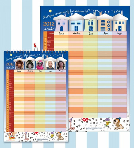2012 naptár promó