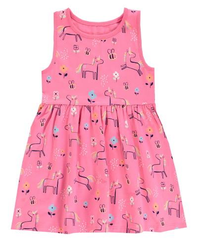 Rózsaszín unikornis mintás ruha, F&F