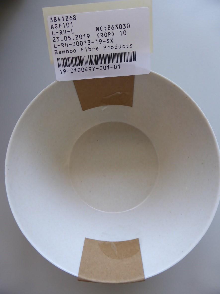 Bamboo tányér