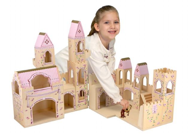 Melissa & Doug játékok - Fa kastély