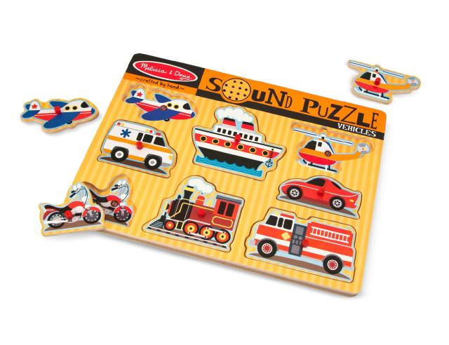 Melissa & Doug játékok - Sound Puzzle - Járművek
