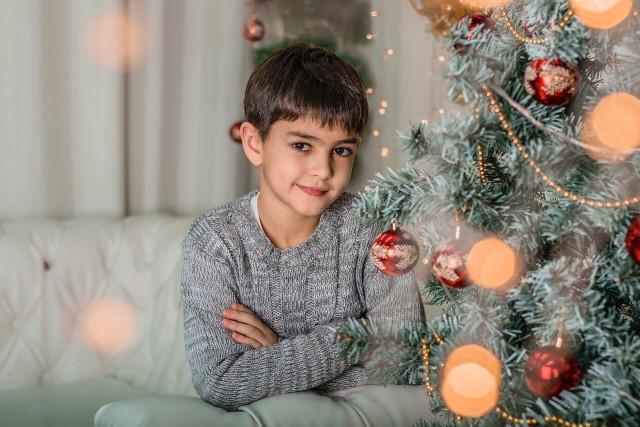 Karácsony kisfiúval