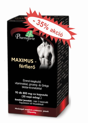 Maximus - férfierő -35% akció
