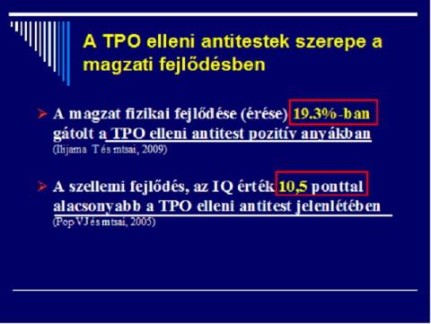 A TPO elleni antitestek szerepe a magzati fejlődésben