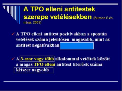 A TPO elleni antitestek szerepe vetélésekben