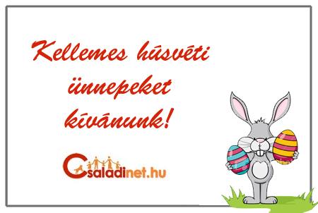 húsvéti képeslap a Családinettől