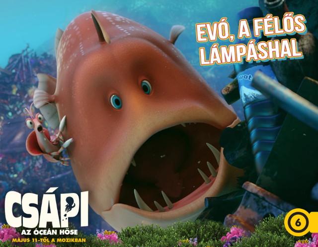 Csápi - Az óceán hőse - Evó, a félős lámpáshal
