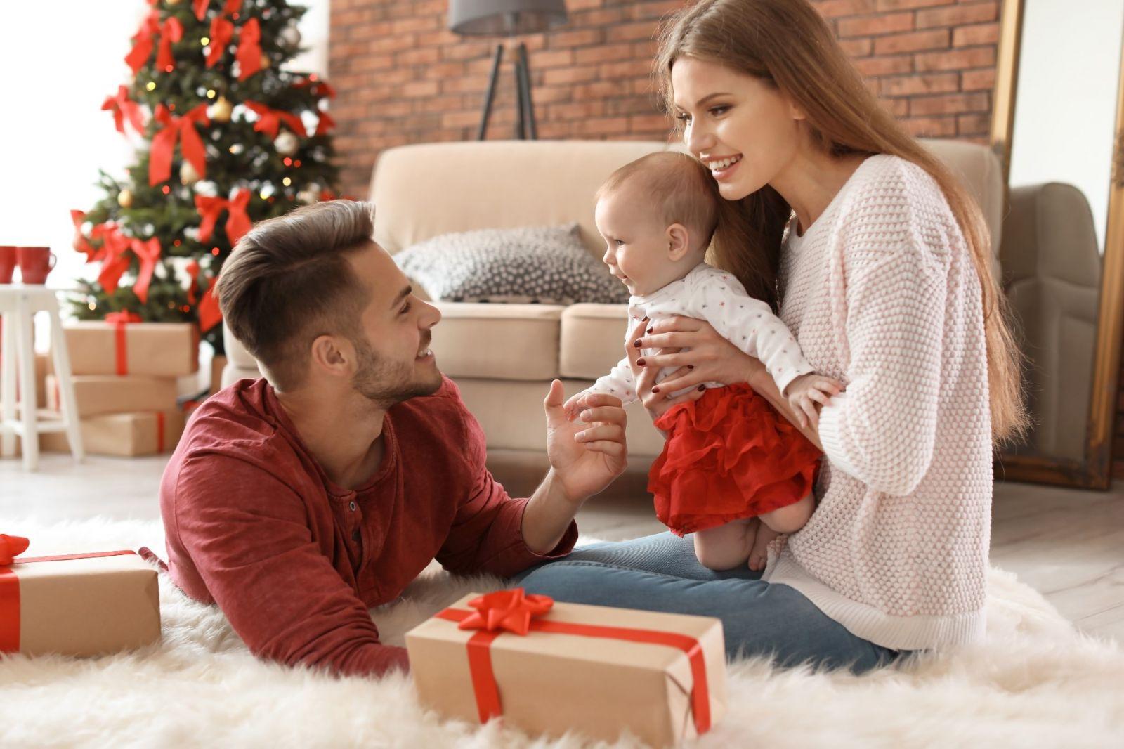 Karácsony a babával
