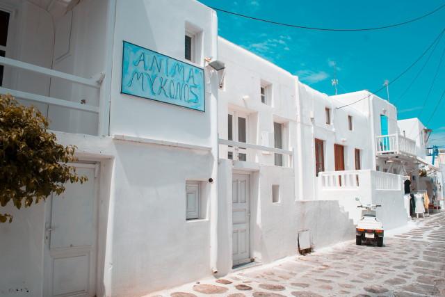 Görög hófehér ház