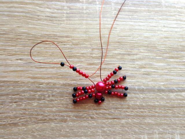 Gyöngyfűzés - gyöngyből készült pók