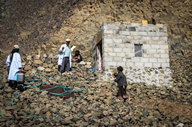 vakcinaszállítás Jemenben