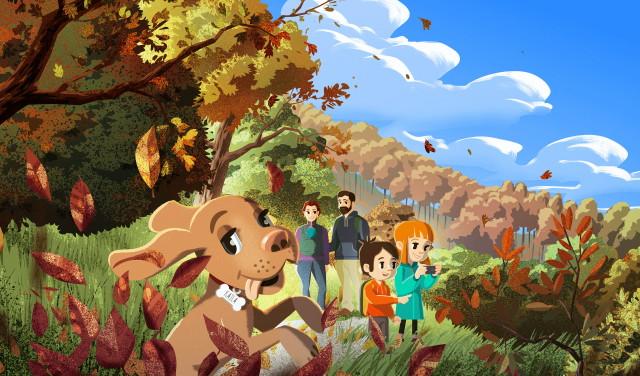 Kajla - őszi erdő