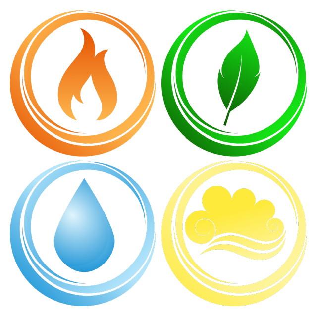 Négy elem: Tűz, Föld, Víz, Levegő