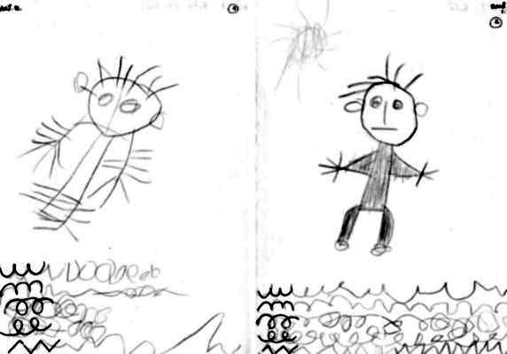 rajzkészség felődése (előtte és utána)