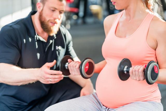 Sport várandósan - súlyzózás