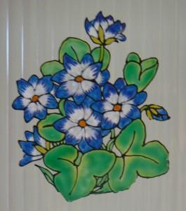 Üvegmatrica - Kék virág
