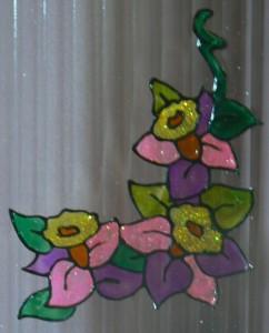 Üvegmatrica - virágsarok