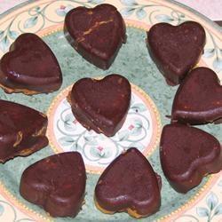 Valentin napi csokoládé szív