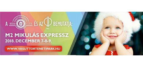 M2 Mikulás Expressz indul a Nyugati Pályaudvarról a Vasúttörténeti Parkba  2018. December 7-én f98bf2e8ca